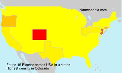 Surname Blechar in USA