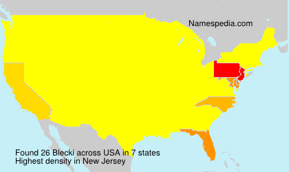 Surname Blecki in USA