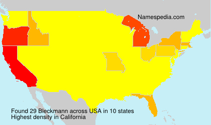 Surname Bleckmann in USA