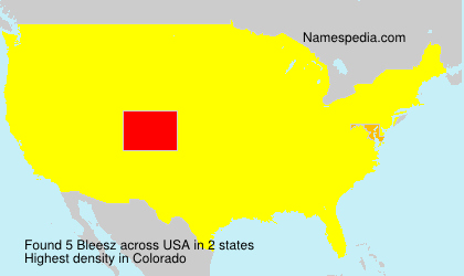 Surname Bleesz in USA