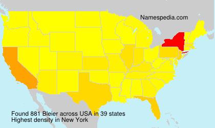 Surname Bleier in USA