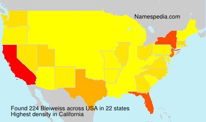 Familiennamen Bleiweiss - USA