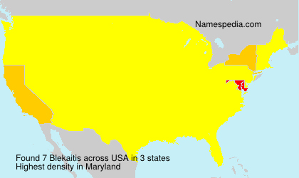 Surname Blekaitis in USA