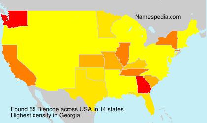 Familiennamen Blencoe - USA