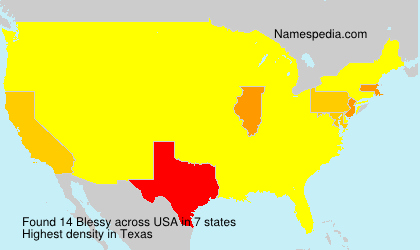 Surname Blessy in USA