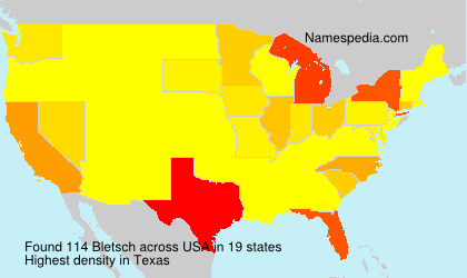 Surname Bletsch in USA
