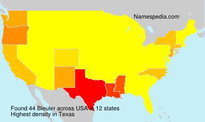 Surname Bleuler in USA