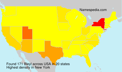 Surname Bleyl in USA