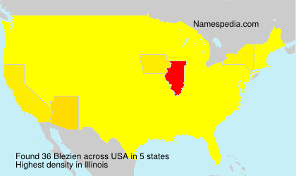 Surname Blezien in USA