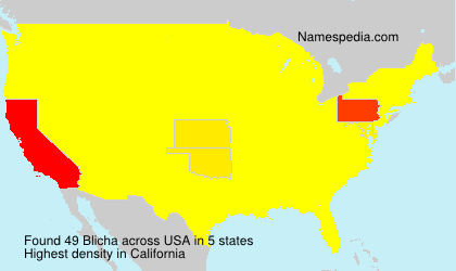 Surname Blicha in USA
