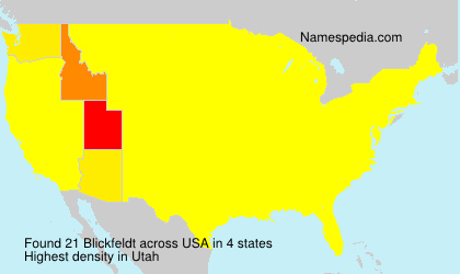 Surname Blickfeldt in USA
