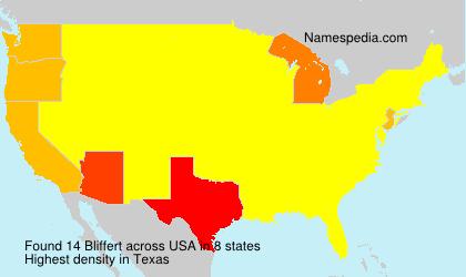 Surname Bliffert in USA