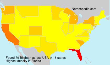 Surname Blighton in USA
