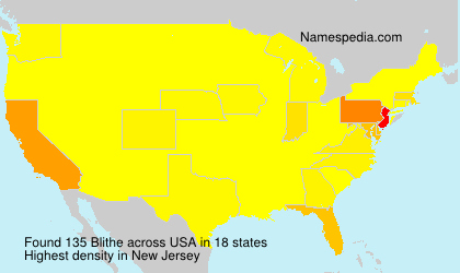 Surname Blithe in USA