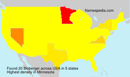 Surname Bloberger in USA