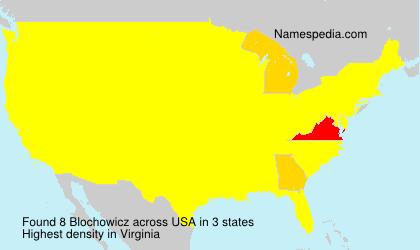 Familiennamen Blochowicz - USA