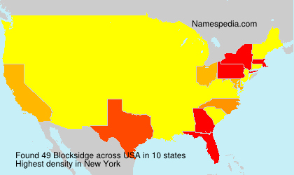 Surname Blocksidge in USA