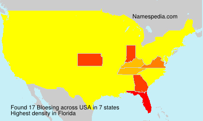 Surname Bloesing in USA