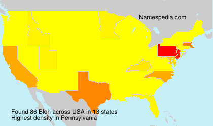 Familiennamen Bloh - USA