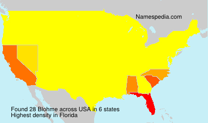 Surname Blohme in USA
