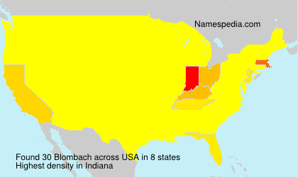 Surname Blombach in USA