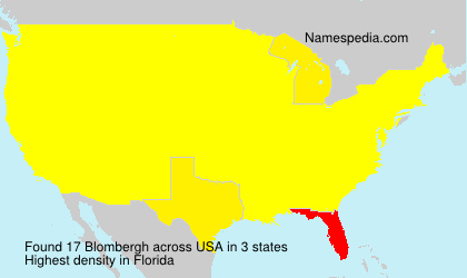 Surname Blombergh in USA
