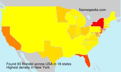 Surname Blondel in USA