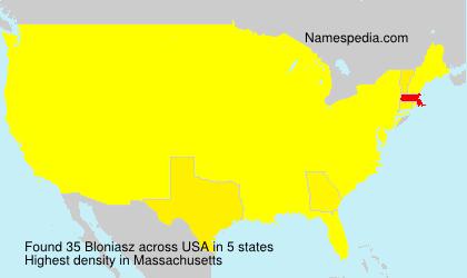 Familiennamen Bloniasz - USA