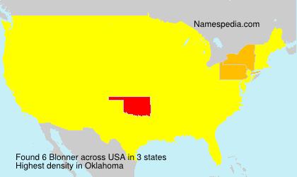 Familiennamen Blonner - USA