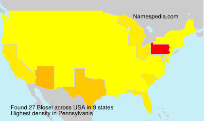 Surname Blosel in USA