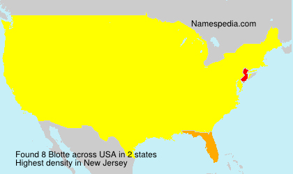 Surname Blotte in USA