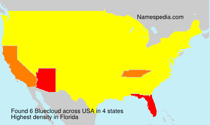Surname Bluecloud in USA