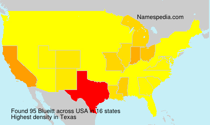 Surname Blueitt in USA