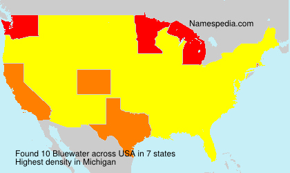 Surname Bluewater in USA