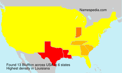 Surname Bluffton in USA