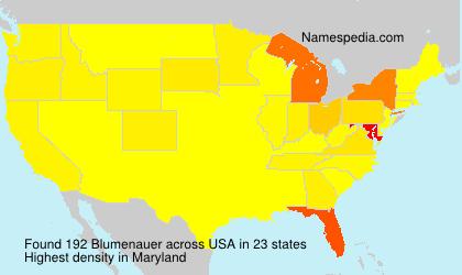 Surname Blumenauer in USA