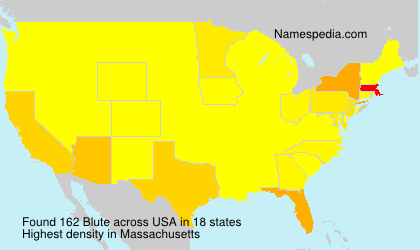 Surname Blute in USA