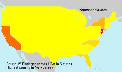 Surname Blutinger in USA