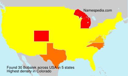 Familiennamen Bobalek - USA