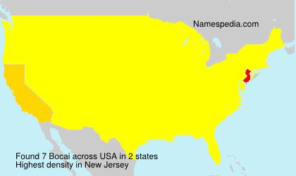 Surname Bocai in USA