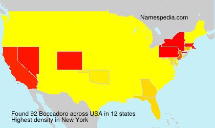 Surname Boccadoro in USA