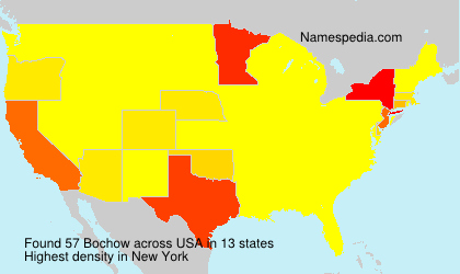 Surname Bochow in USA