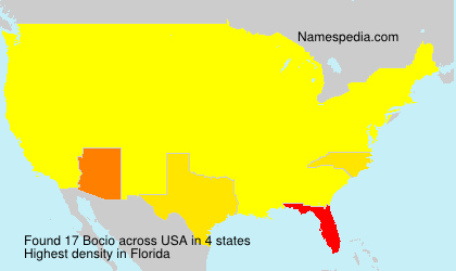 Surname Bocio in USA