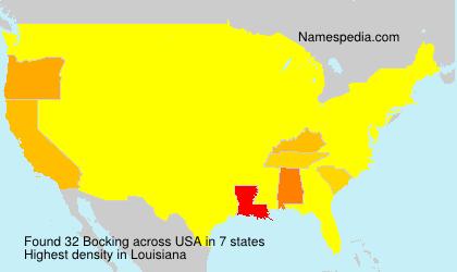 Surname Bocking in USA