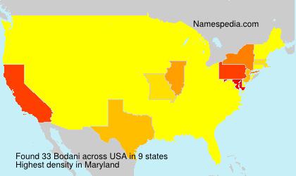 Surname Bodani in USA