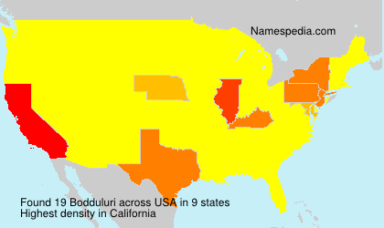 Surname Bodduluri in USA