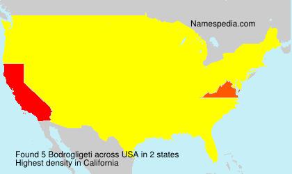 Familiennamen Bodrogligeti - USA
