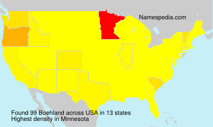 Surname Boehland in USA