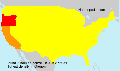 Surname Boekee in USA