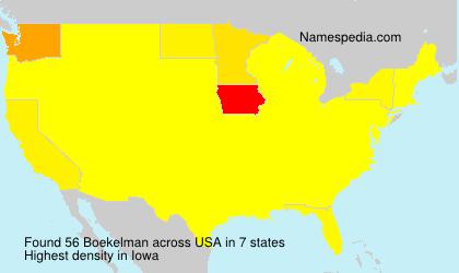 Surname Boekelman in USA